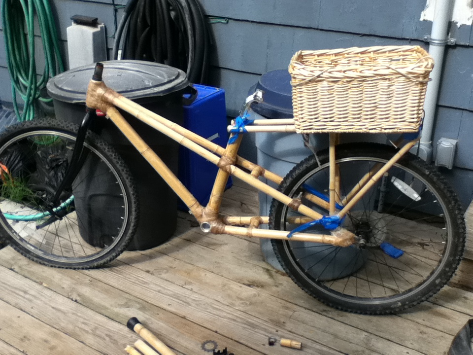 cargo bike during building process