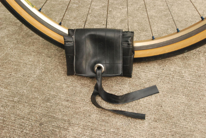 Tool Roll made of bike inner tubes