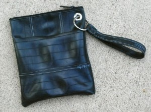 inner tube wristlet with grommet strap