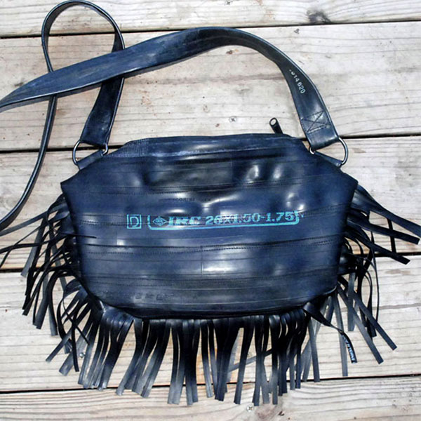 Fringe Purse lounging on the deck.