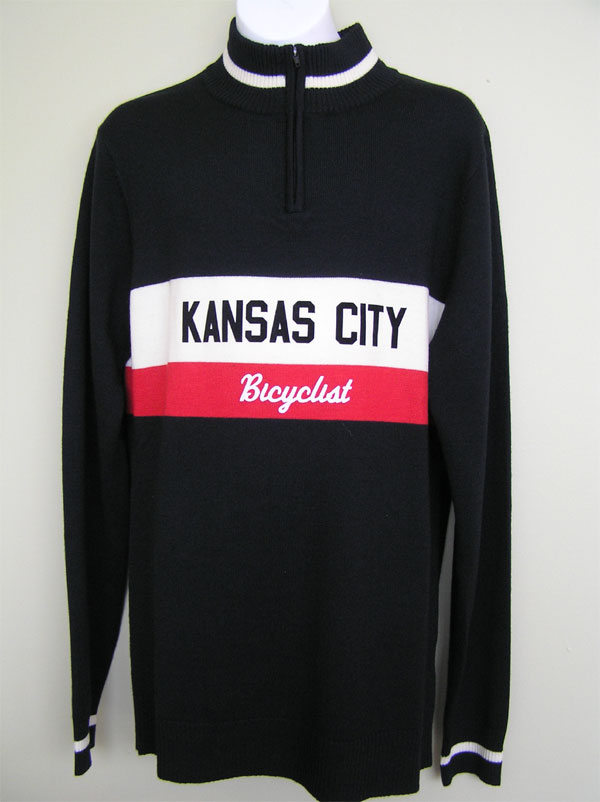Kansas City Bicyclist merino wool jersey
