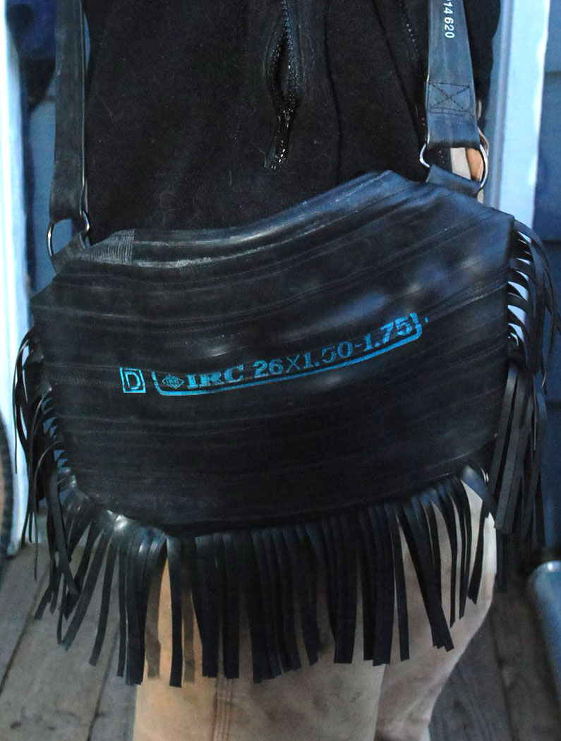 Fringe inner tube purse