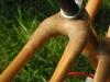hemp and epoxy joints on bamboo bike